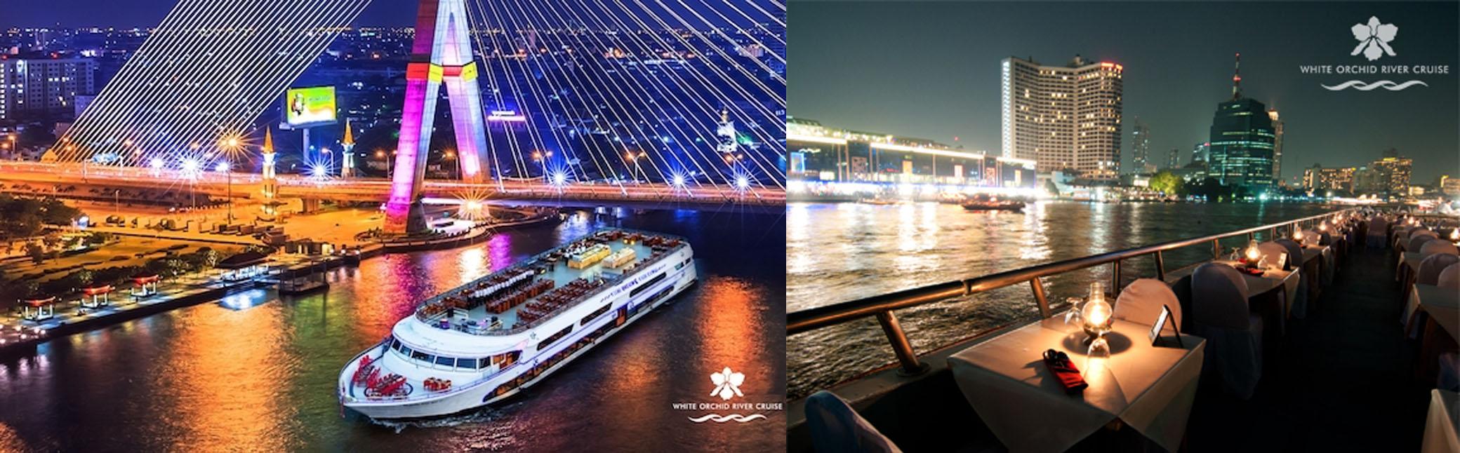 White Orchid River Cruise ล่องเรือแม่น้ำเจ้าพระยา ดินเนอร์  Seafood Buffet by เรือสำราญ