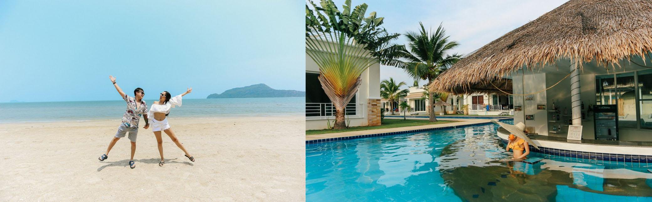 Oriental Beach Pearl บ้านส่วนตัวริมเขาหัวหินปราณบุรี ติดสระว่ายน้ำพร้อมเตาปิ้งย่าง อ่างจากุซซี่ดาดฟ้