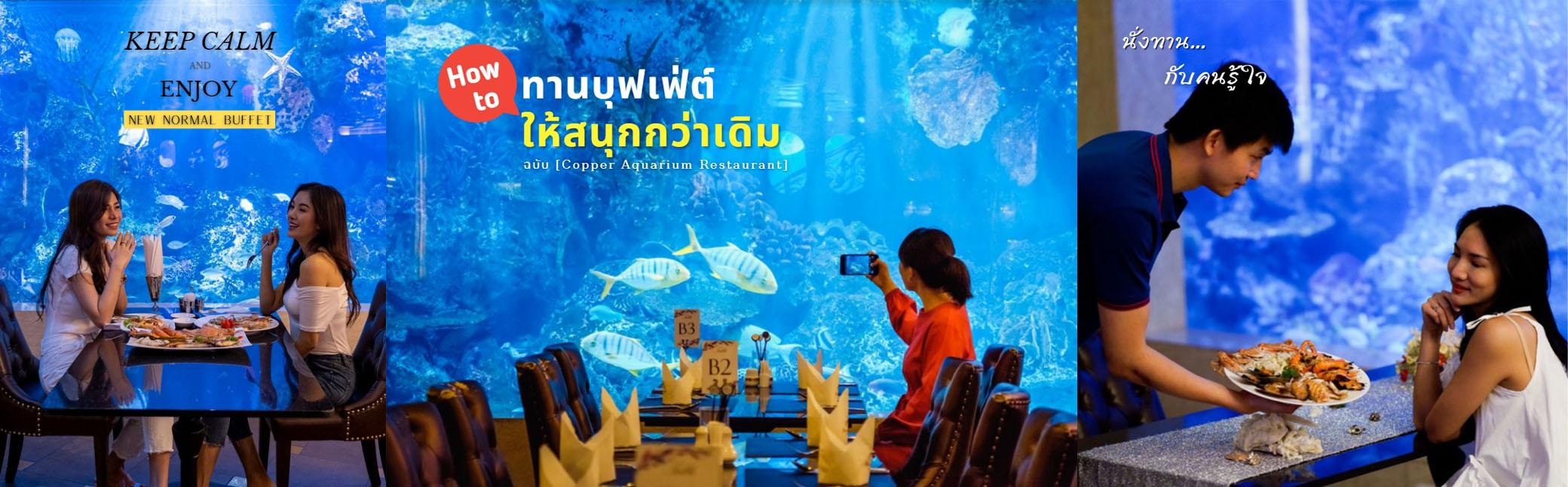 Copper Aquarium Restaurant โปรบุฟเฟ่ต์ Seafood พรีเมี่ยม++ เพียง 850฿