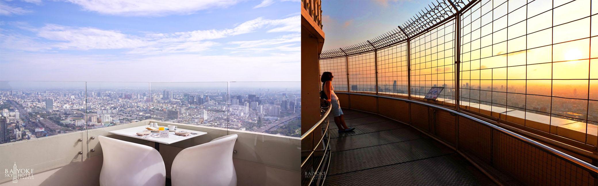 บุฟเฟต์สูงเสียดฟ้า ใบหยกสกายส์ ชั้น 81 Outdoor Skybox ทะเล ซาซิมิ สเต๊ก ฟัวกราส์ @BAIYOKE