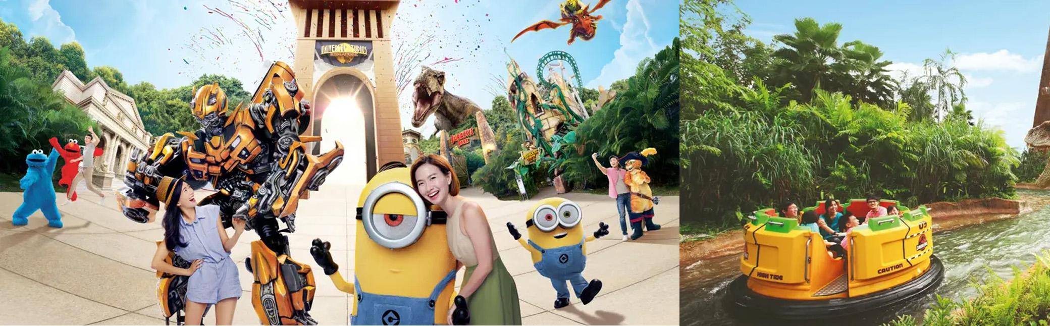 บัตรเข้าสวนสนุกยูนิเวอร์แซล สตูดิโอ สิงคโปร์ (Universal Studios Singapore™ ) 1 วัน